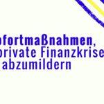5 Sofortmaßnahmen, eine private Finanzkrise abzumildern